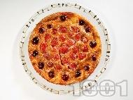 Плодово суфле / сладкиш от яйца и прясно мляко с череши, ягоди и кайсии за десерт (без брашно и глутен)